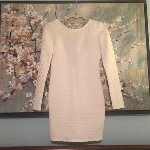 Topshop White Long Sleeved Bodycon Dress Sz.6